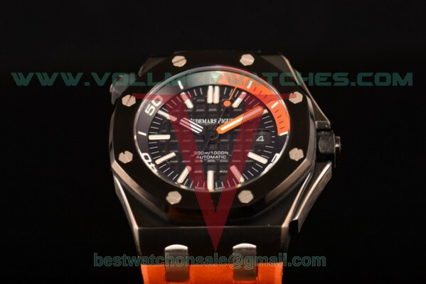 Audemars Piguet Royal Oak Offshore Diver Auto Black Dial with PVD Case 15707CE.00.A002CA.01 (EF)