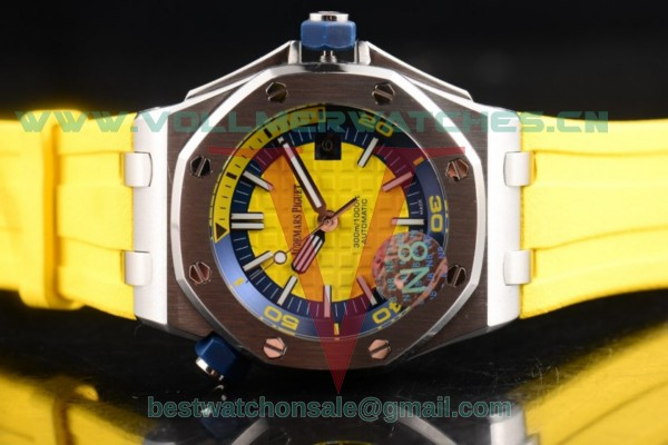 Audemars Piguet Royal Oak Offshore Diver 2813 Auto Yellow Dial with Steel Case 15710ST.OO.A051CA.01 (EF)