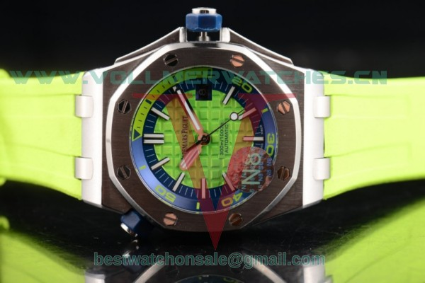 Audemars Piguet Royal Oak Offshore Diver 2813 Auto Green Dial with Steel Case 15710ST.OO.A038CA.01 (EF)