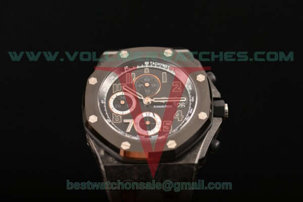Audemars Piguet Royal Oak Offshore Ginza7 7750 Auto Chronograph Black Dial with Forged Carbon Case 26180ST.OO.D101CR.01 (J12)