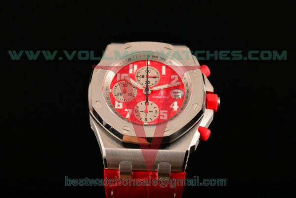 Audemars Piguet Royal Oak Offshore Rhone-Fusterie Limited Edition 7750 Auto Chronograph Red Dial with Steel Case 26108st.oo.d066cr.01 (JF)