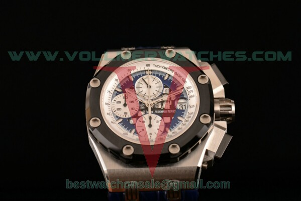 Audemars Piguet Rubens Barrichello 7750 Auto Chronograph Blue Dial with Steel Case 26078PO.OO.D018CR.01 (JF)