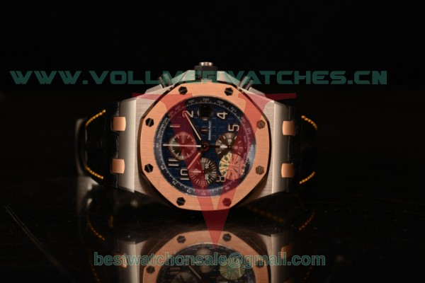 1:1 Audemars Piguet Royal Oak Offshore Chrono 3126 Auto Blue Dial with Steel Case Rose Gold Bezel 26471SR.OO.D101CR.01 (JF)