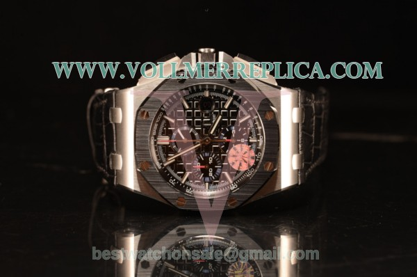 Audemars Piguet Royal Oak Offshore Black Dial 1:1 Clone With Black Leather Strap JF 26411PO.OO.A002CR.01 1:1