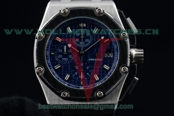 Audemars Piguet Royal Oak Offshore Juan Pablo Montoya Chrono Miyota OS10 Blue Dial with Steel Case 26030PO.OO.D001IN.01 (EF)