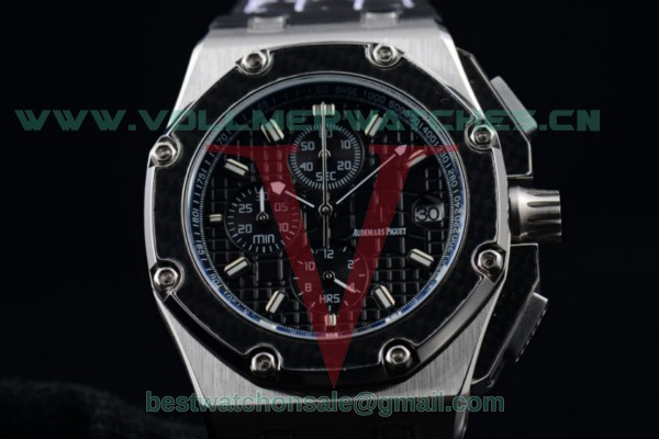 Audemars Piguet Royal Oak Offshore Juan Pablo Montoya Chrono Miyota OS10 Black Dial with Steel Case 26030RO.OO.D001IN.01S (EF)