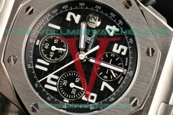 Audemars Piguet Royal Oak Offshore Chrono 7750 Auto Black Dial White Numeral Marker With Steel Case 26170ST.OO.1000ST.08