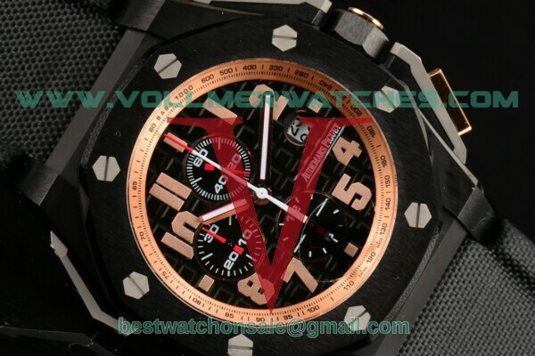 Audemars Piguet Royal Oak Offshore Arnold Schwarzenegger The Legacy Chrono 7750 Auto Black Grid Dial With PVD Case 26378io.oo.a001ke.01(Z)