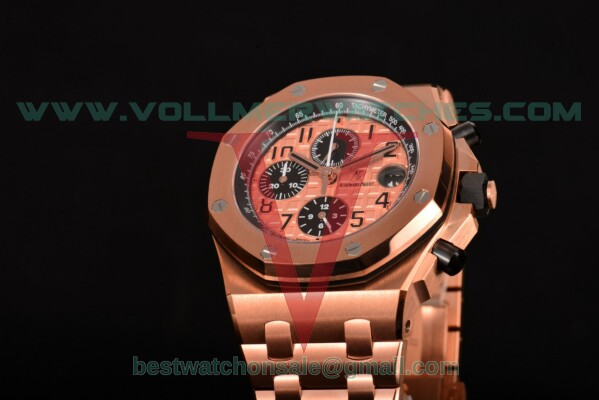 Audemars Piguet Royal Oak Offshore Chrono 7750 Auto Rose Gold Dial With Rose Gold Case 26470OR.OO.1000OR.01(J12)