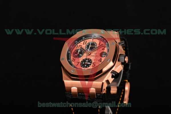 Audemars Piguet Royal Oak Offshore Chrono 7750 Auto Rose Gold Dial With Rose Gold Case 26470OR.OO.A002CR.01(J12)