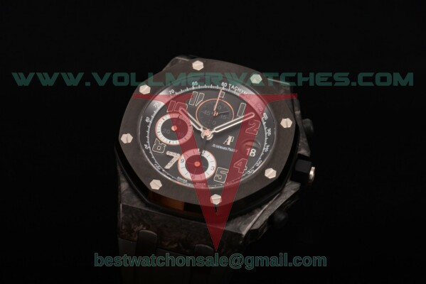 "Audemars Piguet Royal Oak Offshore ""GINZA 7"" Chrono 7750 Auto Black Dial With Forged Carbon Case 26170st.tt.d101cr.05(J12)"