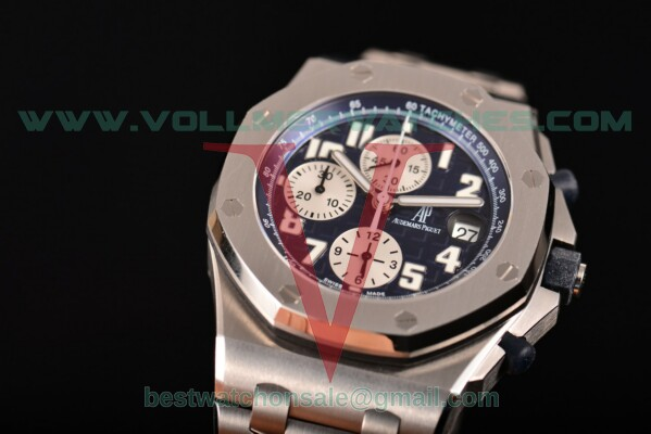 Audemars Piguet Royal Oak Offshore Chrono Navy Blue Themes Chrono 7750 Auto Blue Dial With Steel Case 26170st.oo.1000st.09 (JF)