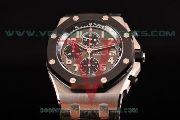 Audemars Piguet Royal Oak Offshore Doha Limited Edition Chrono Clone AP Calibre 3126 Auto Black Dial With Steel Case 26219IO.OO.D005CR.01(J12)