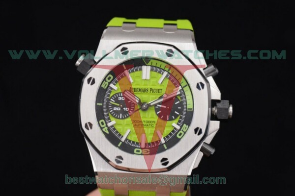 Audemars Piguet Royal Oak Offshore Diver Chrono Clone AP Calibre 3126 Auto Green Dial with Steel Case 26703ST.OO.A038CA.01 (JF)