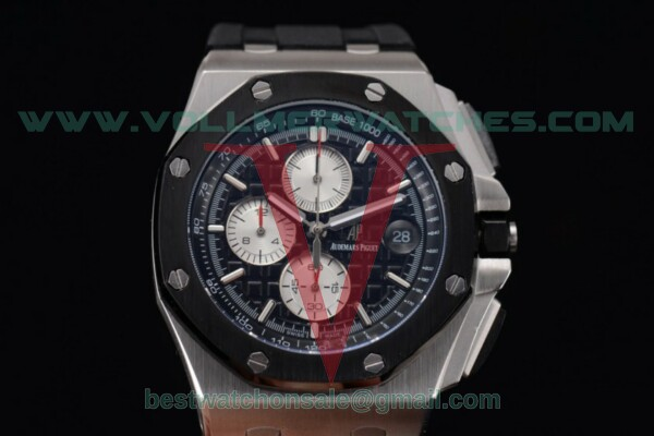 Audemars Piguet Royal Oak Offshore Chrono Japanese Miyota OS Quartz Black Dial With Steel Case 26400SO.OO.A002CABW.04(EF)