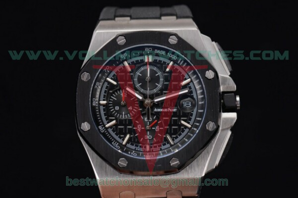 Audemars Piguet Royal Oak Offshore Chrono Japanese Miyota OS Quartz Black Dial With Steel Case 26400SO.OO.A002CABB.03(EF)