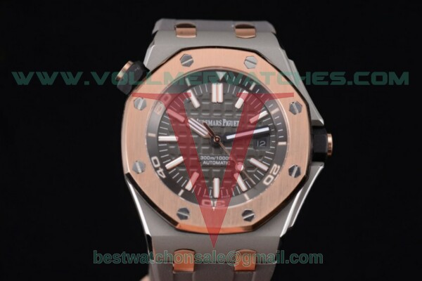 Audemars Piguet EII Cup 2014 Royal Oak Offshore Diver Limited Edition 3120 Auto Black Dial With Steel Case 15709TR.OO.A005CR.02 (EF)