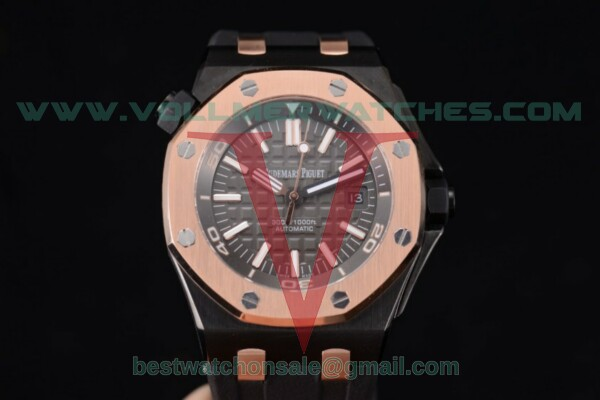 Audemars Piguet EII Cup 2014 Royal Oak Offshore Diver Limited Edition 3120 Auto Black Dial With PVD Case 15709TR.OO.A005CR.01 (EF)