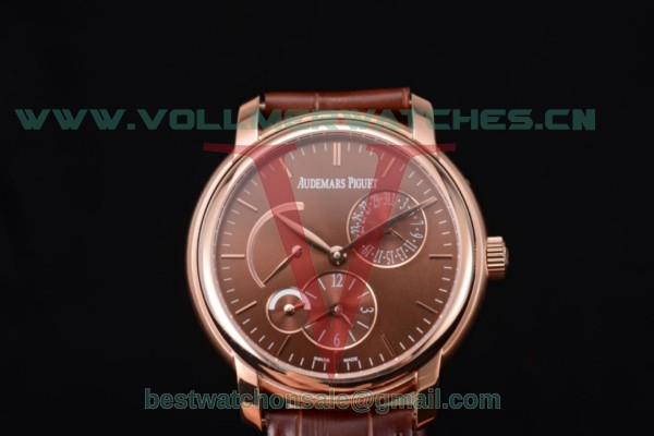 Audemars Piguet Jules Audemars Dual Time ST25 Auto Brown Dial With Rose Gold Case 26380OR.OO.D002CR.01.br