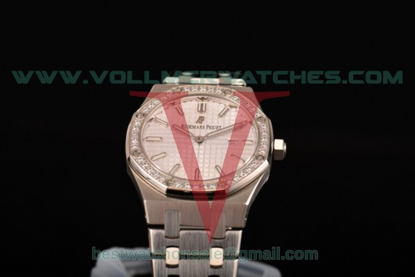 Audemars Piguet Royal Oak Miyota Quartz White Dial with Steel Case 15400st.oo.1220st.02D (EF)