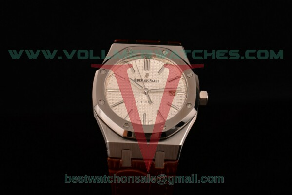 Audemars Piguet Royal Oak Miyota 9015 Auto White Textured Dial with Steel Case 15400OR.OO.D088CR.02br (BP)
