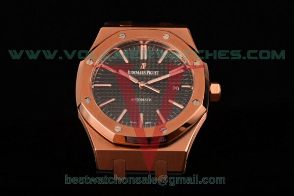 Audemars Piguet Royal Oak Miyota 9015 Auto Black Dial with Rose Gold Case 15400or.oo.d002cr.01