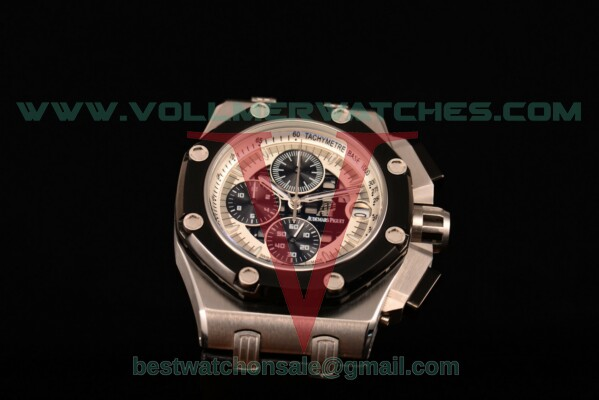 Audemars Piguet Rubens Barrichello Chrono Miyota Quartz White/Black Dial with Steel Case 26078IO.OO.D001VS.01 (EF)