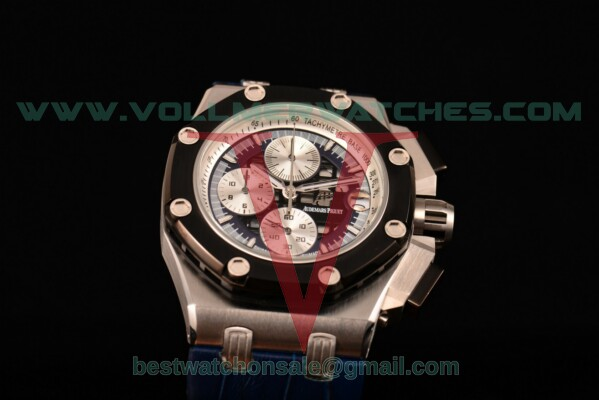 Audemars Piguet Rubens Barrichello Chrono Miyota Quartz Blue/Black Dial with Steel Case 26078PO.OO.D018CR.01 (EF)
