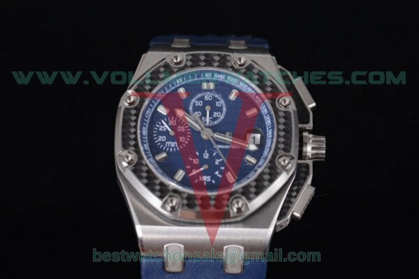 Audemars Piguet Royal Oak Offshore Juan Pablo Montoya 7750 Auto Blue Dial with Steel Case 26030RO.OO.D001IN.01 - (J12)