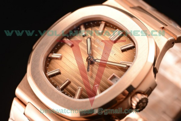 1:1 Patek Philippe Nautilus 9015 Autom Brown Dial with Rose Gold Case 5711/1R-001