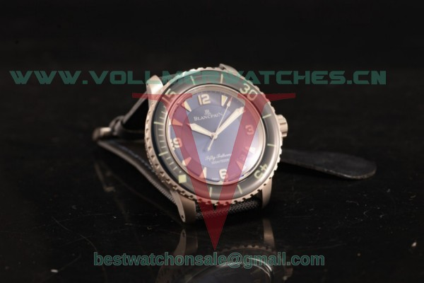 BlancPain Fifty Fathoms 500 2824 Auto Blue Dial with Steel Case 5015-1130-53 (ZF)