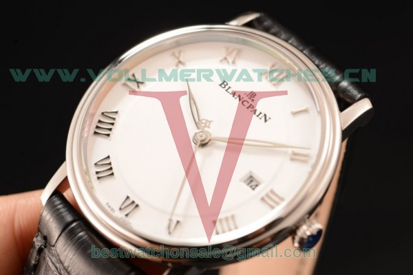 1:1 BlancPain Villeret Ultraplate Remontage Automatique 9015 Auto White Dial with Steel Case PAM00685 (ZF)