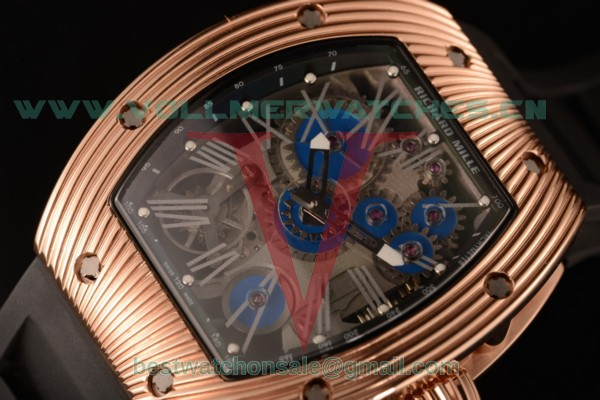 Richard Mille RM 018 Tourbillon Hommage a Boucheron 9015 Auto Skeleton Dial with Rose Gold Case RM RM 018