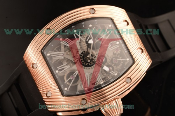 Richard Mille RM 018 Tourbillon Hommage a Boucheron Skeleton Dial 9015 Auto with RM 018 Rose Gold Case