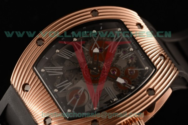 Richard Mille RM 018 Tourbillon Hommage a Boucheron Skeleton Dial 9015 Auto with Rose Gold Case RM 018