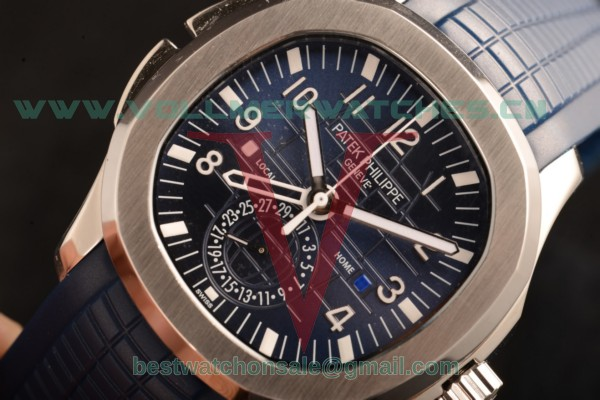 Patek Philippe Aquanaut Travel Time 9015 Auto Blue Dial with Steel Case 5164A-002