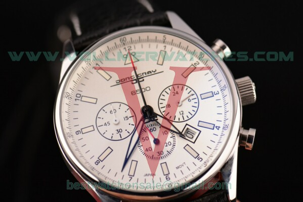 Jorg Gray Obama Limited Edition 6500 Chrono Miyota OS20 Quartz White Dial with Steel Case JG6500