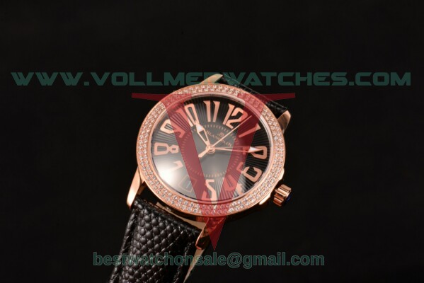 Blancpain Women Ladybird Ultraplate Miyota 9015 Auto Black Dial Diamonds Bezel with Rose Gold Case 3300R-3544-57BK (G5)