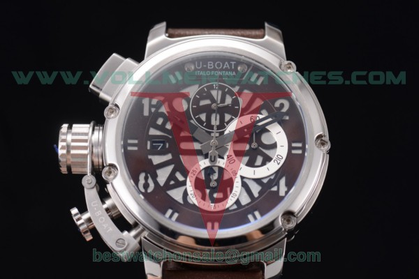 U-Boat Chimera Skeleton Chrono Miyota OS10 Quartz Skeleton Dial with Steel Case 52371