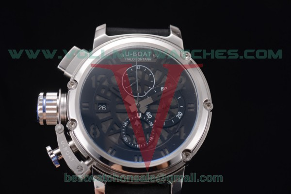 U-Boat Chimera Skeleton Chrono Miyota OS10 Quartz Skeleton Dial with Steel Case 52374