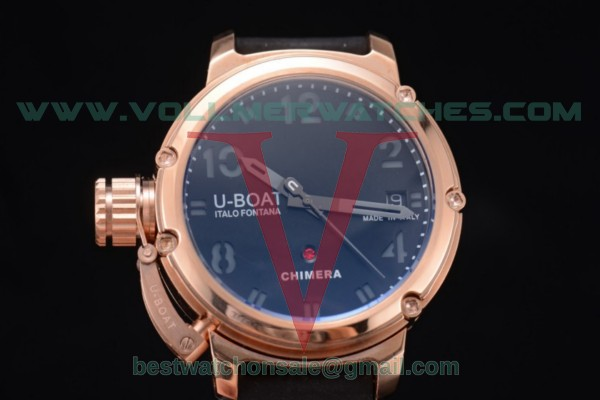 U-Boat Chimera Automatic ST25 Auto Black Dial with Rose Gold Case 7238