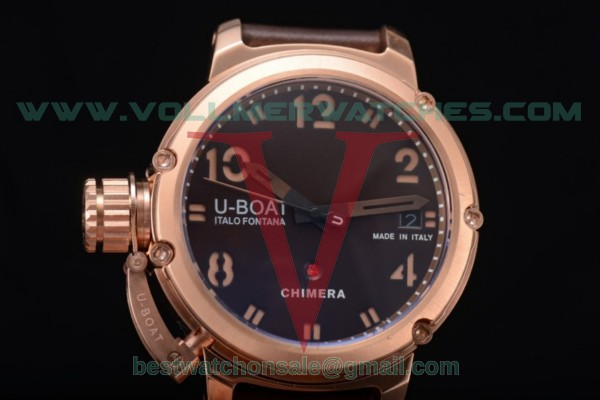 U-Boat Chimera Automatic ST25 Auto Brown Dial with Rose Gold Case 7236
