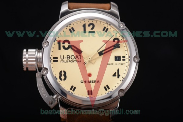 U-Boat Chimera Automatic ST25 Auto Yellow Dial with Steel Case 7227