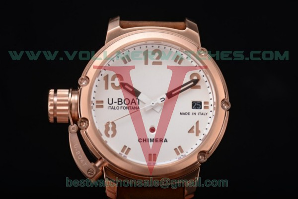 U-Boat Chimera Automatic ST25 Auto White Dial with Rose Gold Case 7237