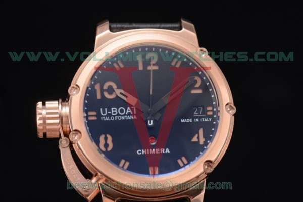 U-Boat Chimera Automatic ST25 Auto Black Dial with Rose Gold Case 7239