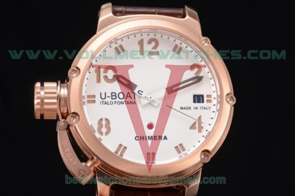 U-Boat Chimera Automatic ST25 Auto White Dial Brown Hands with Rose Gold Case 7237
