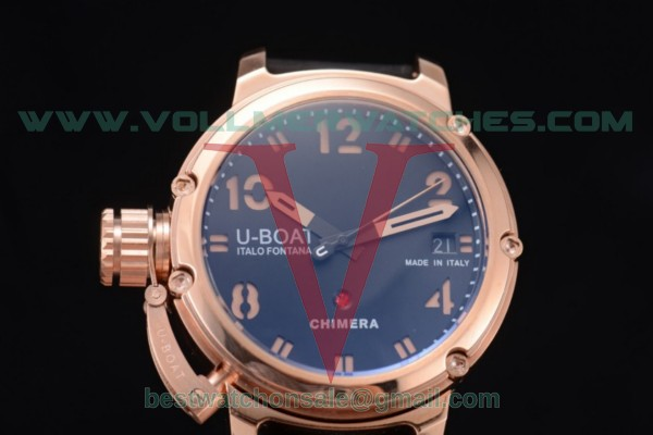 U-Boat Chimera Automatic ST25 Auto Black Dial with Rose Gold Case Arabic Numeral Markers 7239