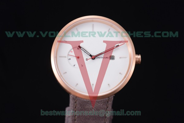 Greyhours Essential Quartz White Dial with Rose Gold Case GE0141