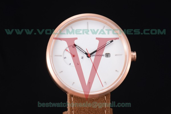 Greyhours Essential Quartz White Dial with Rose Gold Case GE0140