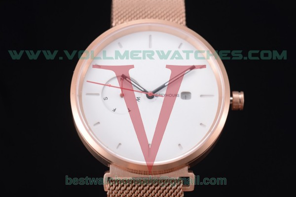 Greyhours Essential Quartz White Dial with Rose Gold Case GE0137